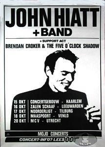 John Hiatt 1987 Tour Concert Poster Brendan Croker