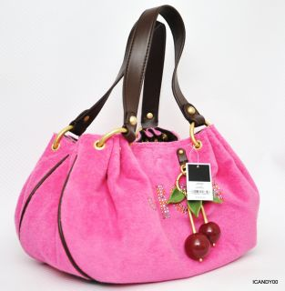 178 Juicy Couture Baby Fluffy Terry Handbag Bag Small Tote YHRUS937