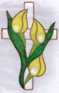 Easter Cross Window Cling
