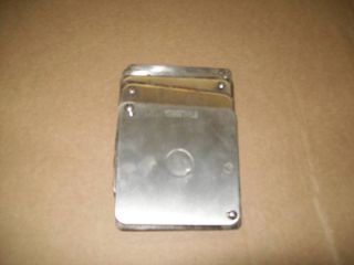 Sq Stainless Steel Electrical Cover Plates New