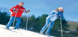Ski Pin Badge Skiing Ski The Poconos PA