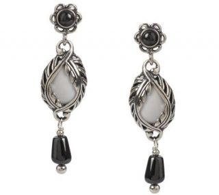 Carolyn Pollack Sterling Winter Lace Gemstone Drop Earrings —