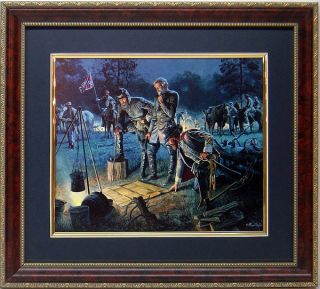 American Civil War Print The Last Council Art By Mort Kunstler