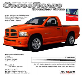 Crossroads Upper Wide Pin Striping Decals Dodge RAM Professional Vinyl