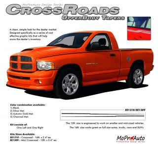 Crossroads Upper Wide Pin Striping Decals Dodge RAM Professional Vinyl