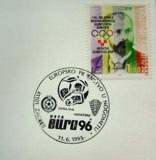 1995 CROATIA CANCELATION SOCCER FOOTBALL FUSSBALL MATCH UEFA EURO