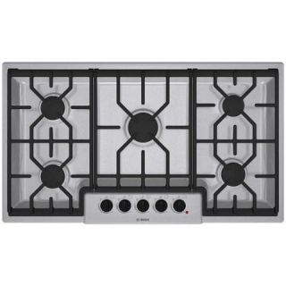 Bosch NGM5654UC 36 Natural Gas Cooktop Stainless Steel