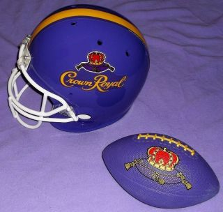 Crown Royal Whisky Purple Football Helmet Replica RARE