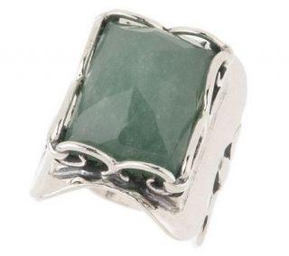 Or Paz Sterling Bold Gemstone Elongated Ring —