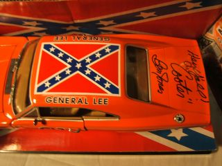 Autographed General Lee from Dukes of Hazard Diecast car Cooter