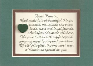 Cousins Family Friends God Made Verses Poems Plaques