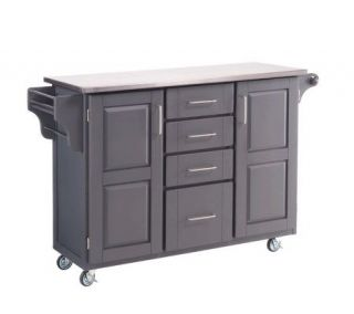 Home Styles Large Create a Cart Gray with Stainless Steel Top