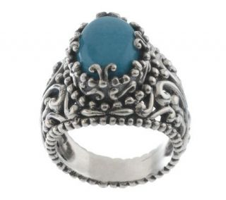 Carolyn Pollack Sterling Sleeping Beauty Turquoise Ring —