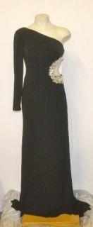 Sherri Hill Size 0 Black Crystal Formal Prom Dress Gown 2554