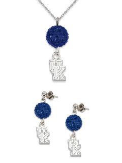 Kentucky Wildcats Ovation Crystal Necklace Earrings