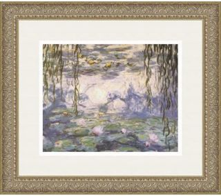 Water Lilies and Willow Branches by Claude Monet —