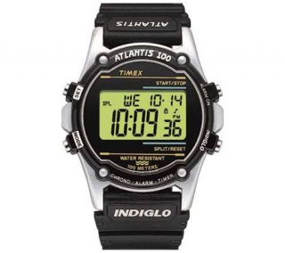 Timex Mens Atlantis 100 Polyurethane Strap Watch —