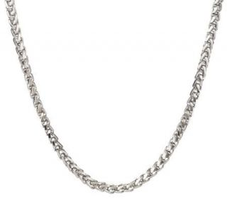 Forza Mens Stainless Steel Bold Wheat Necklace —