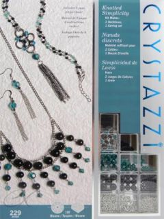 Jewelry Making Kit by Cousin Crystazzi 229 PC Makes 2 Necklaces 1