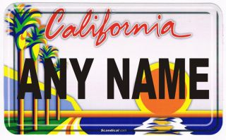 Create Your Own Personalized California License Plate Put Any Name