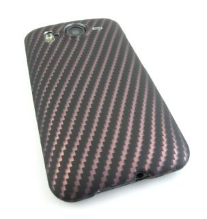 Carbon Fiber Design 2 Hard Case Cover HTC Inspire 4G Desire HD Phone