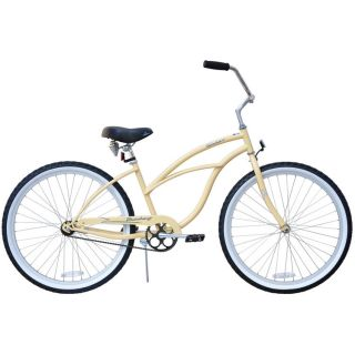 Beach Cruiser Bicycle bikes Firmstrong URBAN 26 Womens VANILLA w Alloy