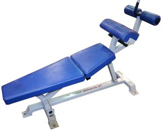 Body Masters Incline Crunch Abdominal Workout Bench Gym Fitness