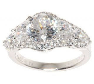 Tacori IV Diamonique Epiphany Halo Style Mixed Cut Ring —