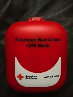 NEW American Red Cross CPR Mask   Unused   Hard Case, Belt Clip