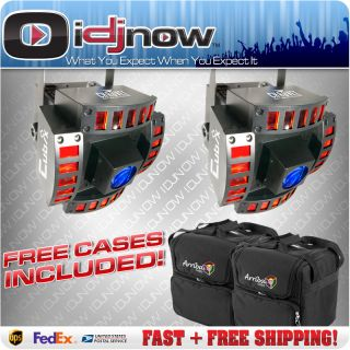 CHAUVET CUBIX LED DJ DMX MULTI COLOR LIGHTING EFFECT 2 PACK & AC 125
