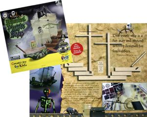Creativity for Kids Haunted Pirate SHIP Craft Kit New