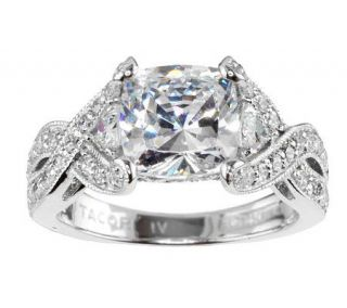 Tacori IV Diamonique Epiphany Bloom Cushion Cut Ring —