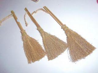 Twig Straw Broom Vintage 8 Primitive  Doll Wedding Besom Craft Supply