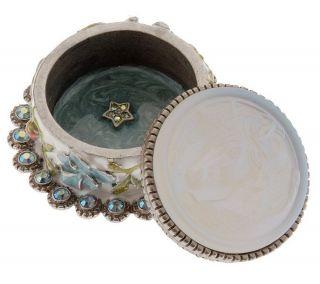 Kirks Folly Crystal and Moonstone Trinket Box —