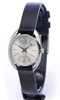 Calvin Klein Ridge Ladies Leather Strap Sapphire Crystal Watch
