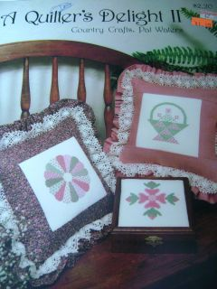 Quilters Delight II Cross Stitch Country Crafts Pat Waters