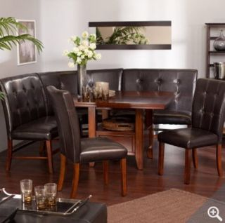 Dining Room on 158755294 Kitchen Dining Room Leather Wood Corner Breakfast Nook  Jpg