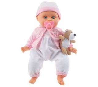 16 Interactive Talking Baby Doll with Teddy Bear and Accessories