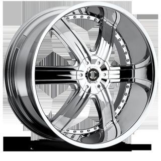 24 inch 5x135 5x5 5 Chrome 2 Crave No 4 Wheels Rims 5 Lug Ford F150