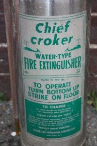 Vintage Chief Croker Stainless Steel Fire Extinguisher Water