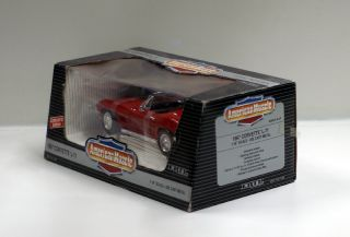 American Muscle Red 1967 Chevrolet Corvette L 71 1 18 Scale Diecast