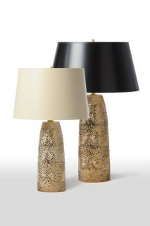 Barbara Cosgrove Gold Rings Large Table Lamp
