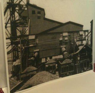 1950 Curtisville Pa Francis Coal Mine Tipple 4 Railroad Cars Loading