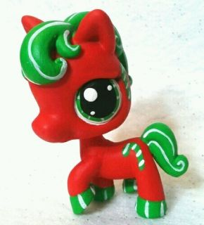 Spearmint Candy Cane Horse OOAK Custom Littlest Pet Shop