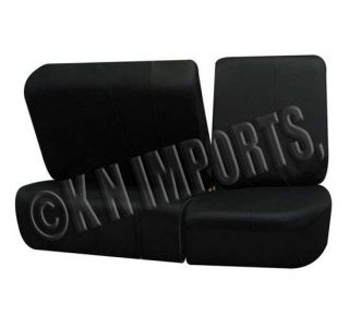 Semi Custom Car Seat Covers Leather Solid Black 11pcs for 2Rows w