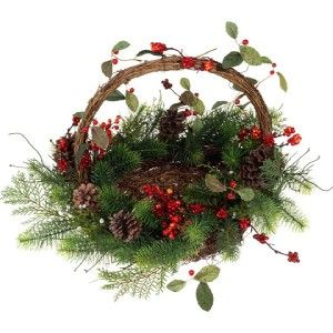 RAZ Over The River 17 in Mixed Pine and Berry Basket OT 3002505