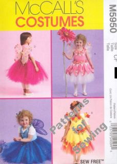 Pattern Sewing McCalls Costume Girl Princess Fairy Angel Size 4 6 New