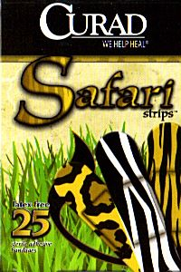 25 CURAD SAFARI STRIPS Sterile Latex Free Adhesive Bandages NEW