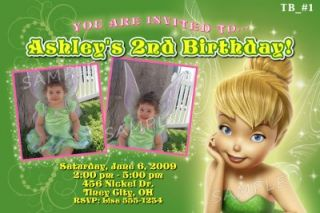 Personalized Custom TINKERBELL BIRTHDAY Invitations Thank You Cards