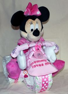 Custom DIAPER Trike MICKEY MOUSE MINNIE MOUSE gift baby shower diaper